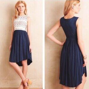 Anthropologie Dresses - Anthropologie mixed materials dress sleeveless